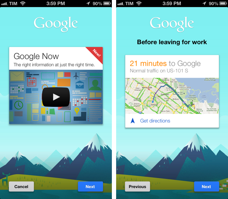 Google Updates iOS App with Google Now
