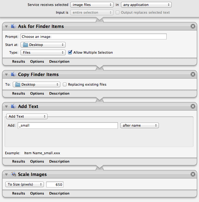 Automator Mountain Lion
